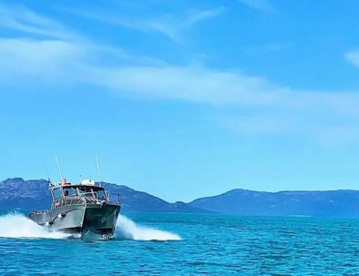 Catamaran on Tasmania's East Coast Fishing Charter