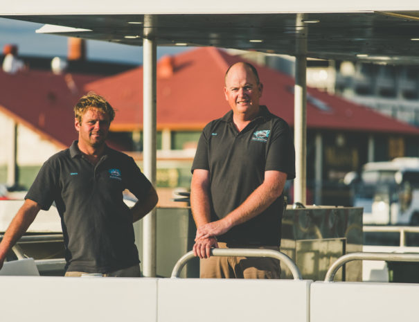 Co Founders Tasmanian Wild Seafood Adventures on Vessel CuttlefishDiver Tasmania