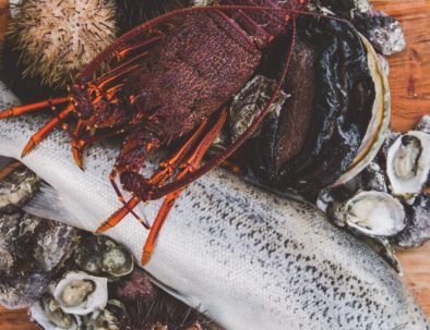 Fresh Wild Tasmanian Seafood including Atlantic Salmon, oysters, blacklip abalone, urchins